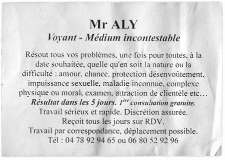 Monsieur ALY, Lyon