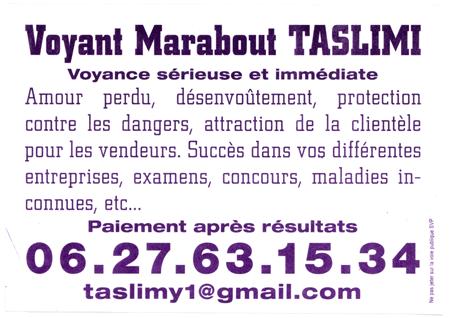 Marabout De Papier Voyant Taslimi Lyon